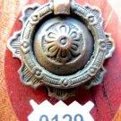FRENCH  DRAWER PULL VINTAGE CABINET BAIL RING PULL ORNATE FLOWER
