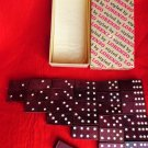 VINTAGE DOMINOS GAME DOUBLE SIX SET NEW YORK EMPIRE STATE BUILDING SOUVENIR