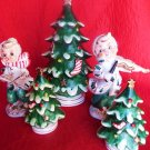 VINTAGE CHRISTMAS SALT PEPPER CHRISTMAS TREE 5PC LOT