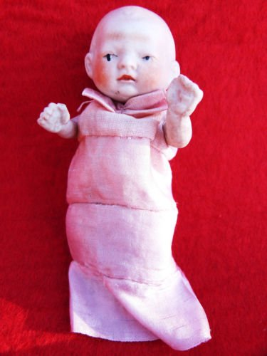 ANTIQUE DOLL BISQUE DOLL JAPAN PORCELAIN JOINTED DOLL