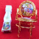 LIMOGE PARLOUR CHAIR LOVE STORY GRANDFATHER CLOCK 2PIECES