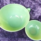 JADEITE FIRE KING MIXING BOWL ANCHOR HOCKING 2PIECES