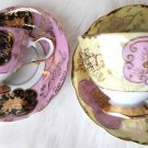 JAPAN CUP SAUCER TEA CUP SAUCER CASTLE PAGODA FANCY GOLD 2XX