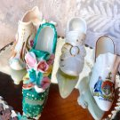 VINTAGE SHOE WEISLEY CHINA VICTORIAN CREST WARE IMPERIAL CHINA EDINBURGH 4pc