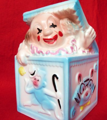 VINTAGE CLOWN PLANTER HEAD VASE BRODY JACK IN THE BOX BABY NURSERY