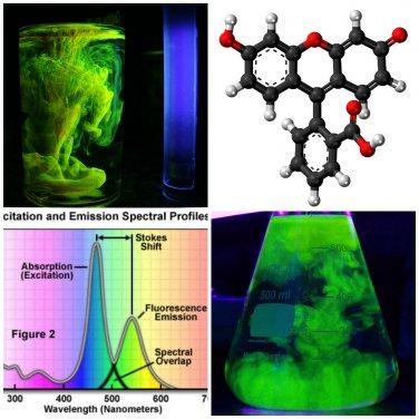 2g Pure Fluorescein Fluorescent Water Dye � drain tracing, glow in the dark -2g