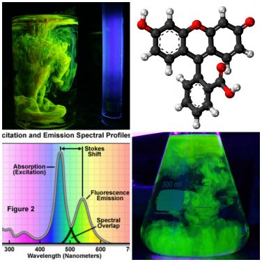 5g Pure Fluorescein Fluorescent Water Dye � drain tracing, glow in the dark -5g