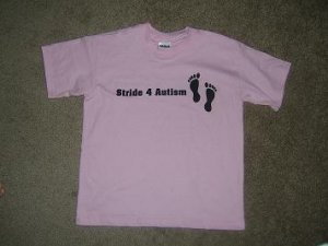 Stride 4 Autism Charity Pink Youth Girls T-Shirt~~FREE SHIPPING!!