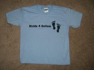 Stride 4 Autism Charity Blue Youth Boys T-Shirt~~FREE SHIPPING!!