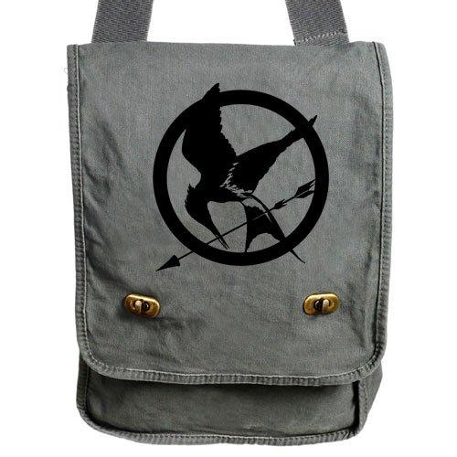 Gray Hunger Games Messenger Bag