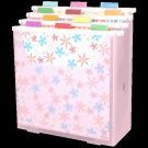 Scrap-eze Vertical Storage Organizer Kit Translucent Pink