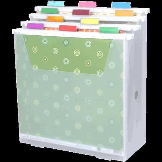 Scrap-eze Vertical Storage Organizer Kit Translucent White