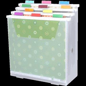 Scrap-eze Vertical Storage Organizer Kit Translucent White