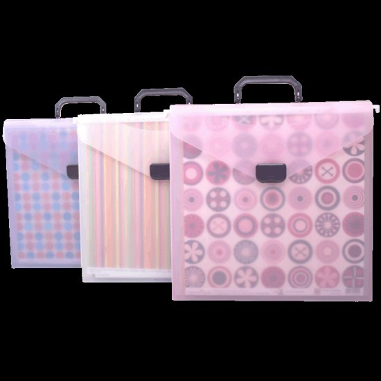 Scrap-eze Hanging File Crop Tote Translucent Pink