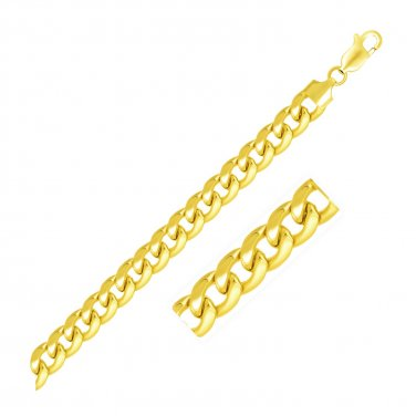 6.7mm 14K Yellow Gold Solid Miami Hip Hop Cuban Chain 90.9 Gramm