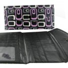 Women's Fashion Wallet ~ Black With Pink, White, and Gray Designs
