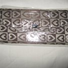 Women's Fashion Wallet ~ Brown With Heart Designs