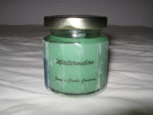Watermelon Scented 4 Ounce 12 Sided Classic Jar Candle
