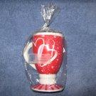 Peony Heart Coffee Mug Candle
