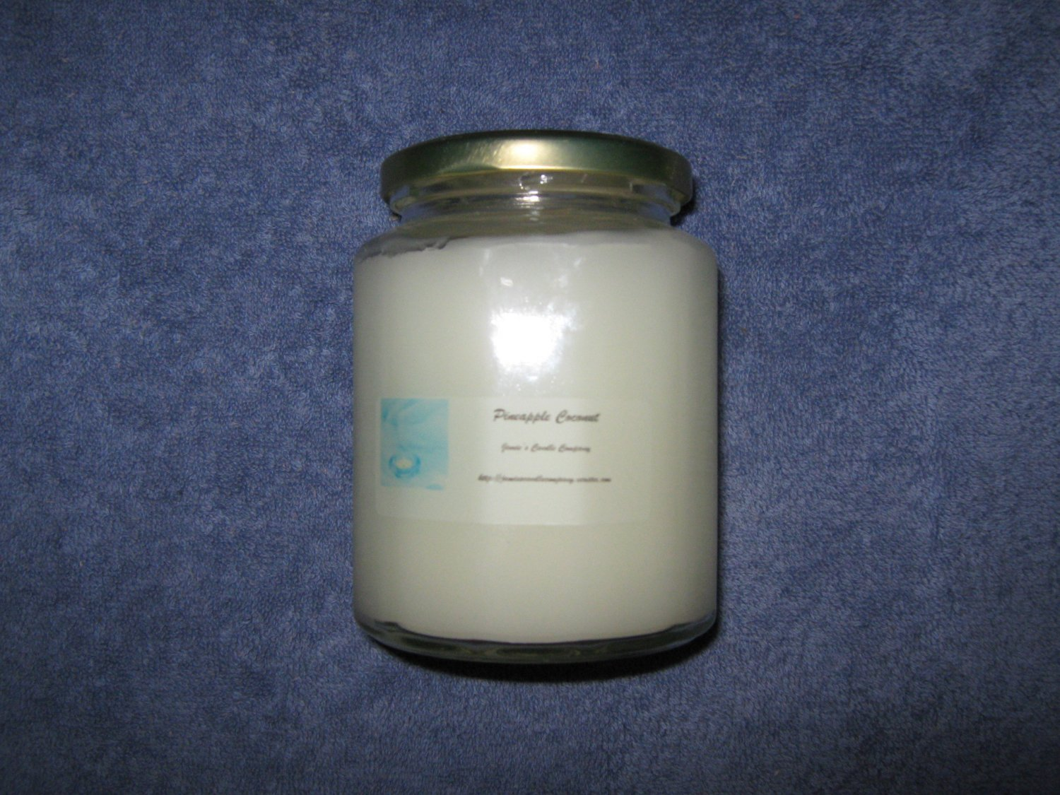 Pineapple Coconut 16 Ounce 12 Sided Class Jar Candle