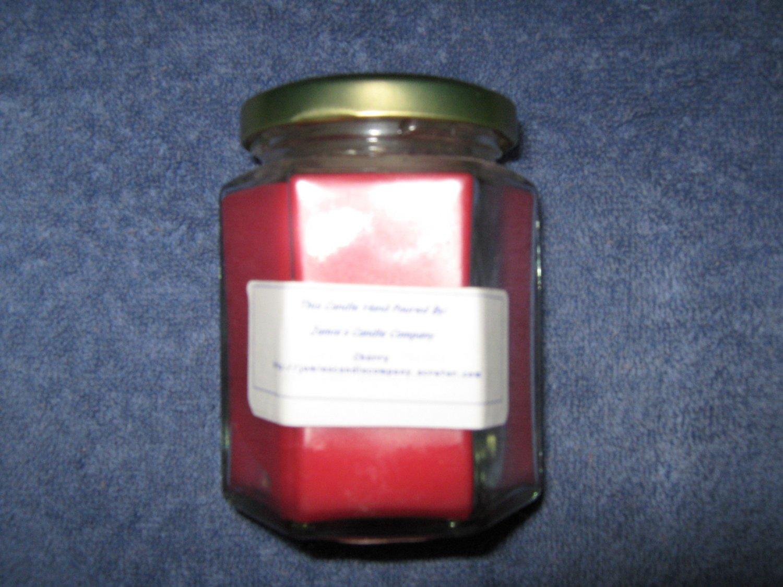 Cherry 9 Ounce Hexagon Jar Candle