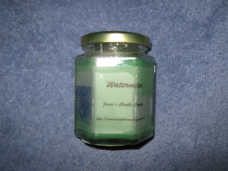 Watermelon 9 Ounce Hexagon Jar Candle
