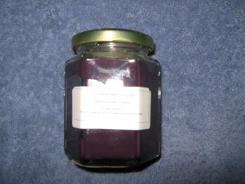 Black Cherry 9 Ounce Hexagon Jar Candle