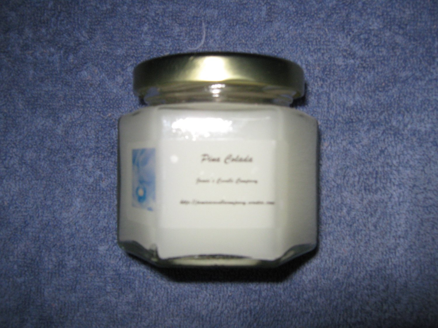 Pina Colada 4 Ounce Hexagon Jar Candle