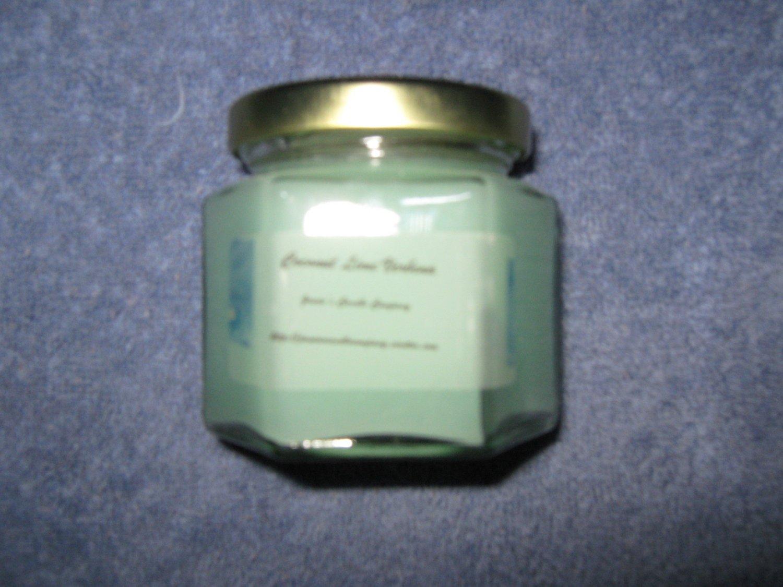 Coconut Lime Verbena 4 Ounce Hexagon Jar Candle
