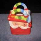 Apple Cinnamon Scented Santa Clause Basket Jar Candle