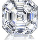 Asscher Diamond 1 Carat D Color  IF Clarity Very Good Cut Excellent Polish GIA Verifiable Report