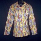 Vintage 70's Emo Hippie Indie Double Knit Top Shirt