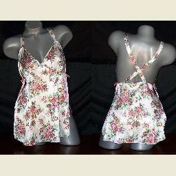 Peekaboo Babydoll Nightgown Gown Panties Panty Set