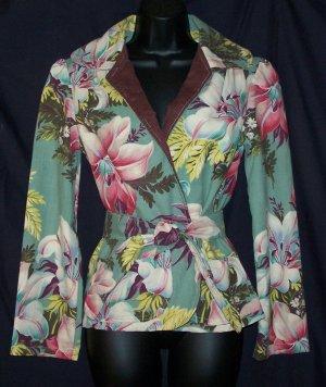 Vintage Barkcloth Jacket Tippecanoe Laguna Beach CA
