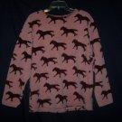 Saddle Ridge Vintage Collection Lodge Western Log Cabin Horse Sweater M