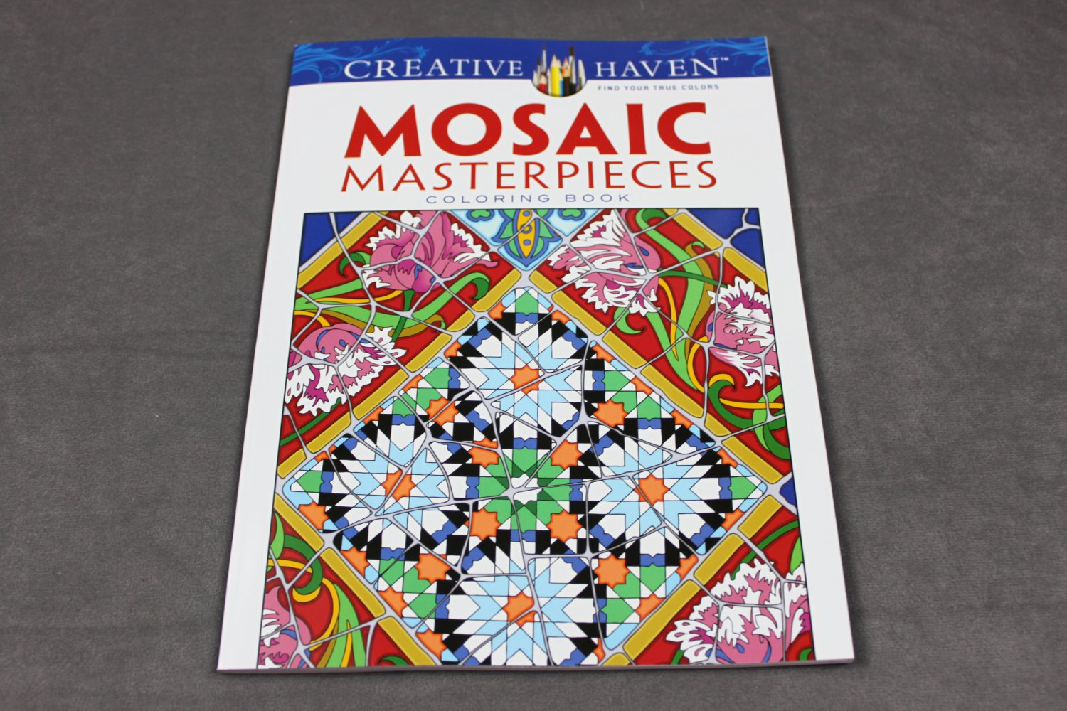 Creative Haven Mosaic Masterpieces Adult Coloring Book