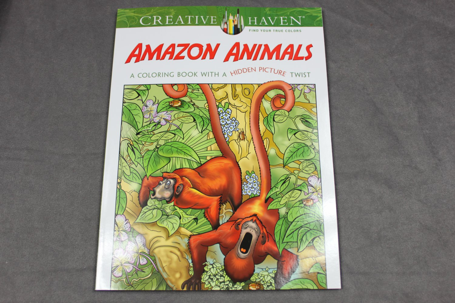 Creative Haven Amazon Animals - Adult Coloring Book with a Hidden Picture Twist Dover
