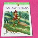 Creative Haven Fantasy Designs Dover Adult Coloring Book