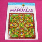 Creative Haven Square Mandalas Dover Adult Coloring Book
