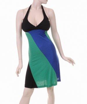 Blue-green-black Dress
