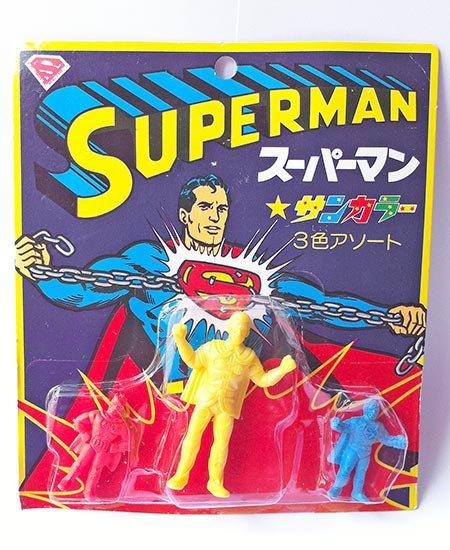 Superman - 3 Color Keshigumu Set 1 - Vintage Japanese Eraser Figure
