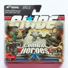 Snake-Eyes, Timber and Zartan from G.I.Joe Combat Heroes by Hasbro