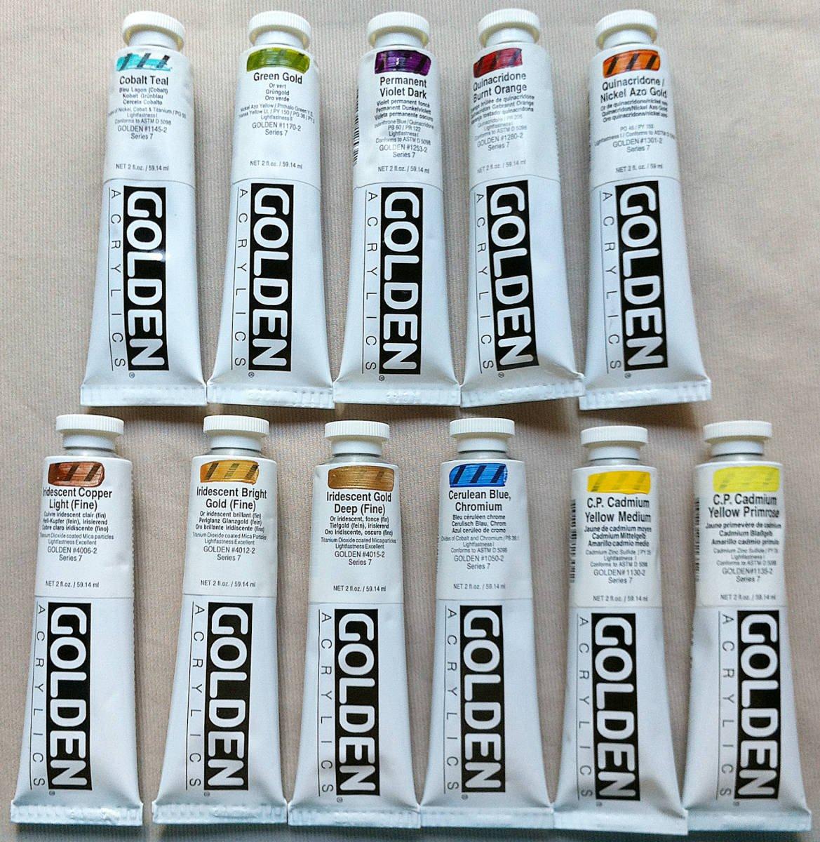 Golden Artist Colors Lot of 80 2 fl. oz. (59.14 ml) acrylic paint tubes