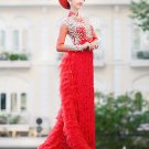 White vietnamese long dress VietNam traditional ao dai truyen thong ao dai cuoi