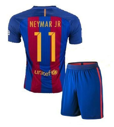 Barcelona #11 Neymar Jr UEFA Home jersey kid youth for age 6-8