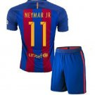 Barcelona #11 Neymar Jr UEFA Home jersey kid youth for age 6-8