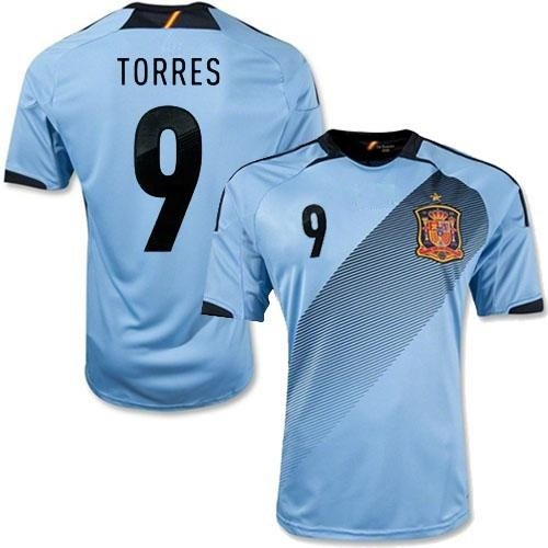Spain #9 Torres Away football soccer jersey w shorts kid youth for age 10-12