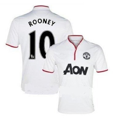 Manchester #10 Rooney Away football soccer jersey for kid youth age 10-12