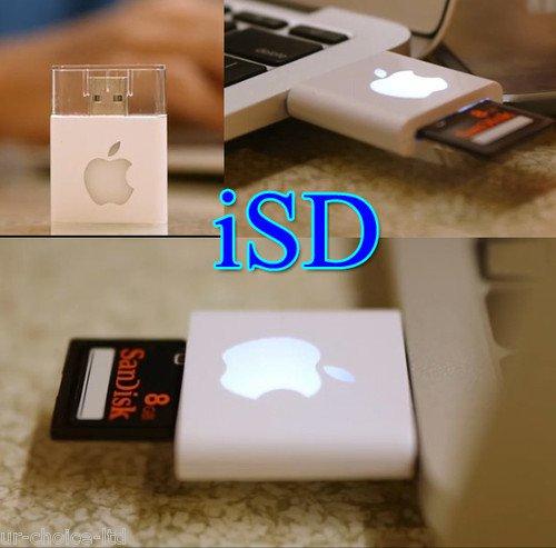 iSD - White color USB slot adaptor for Apple lovers