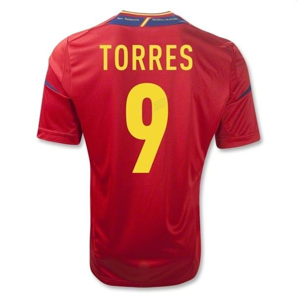Spain #7 Torres World Cup Home jersey for Men XL